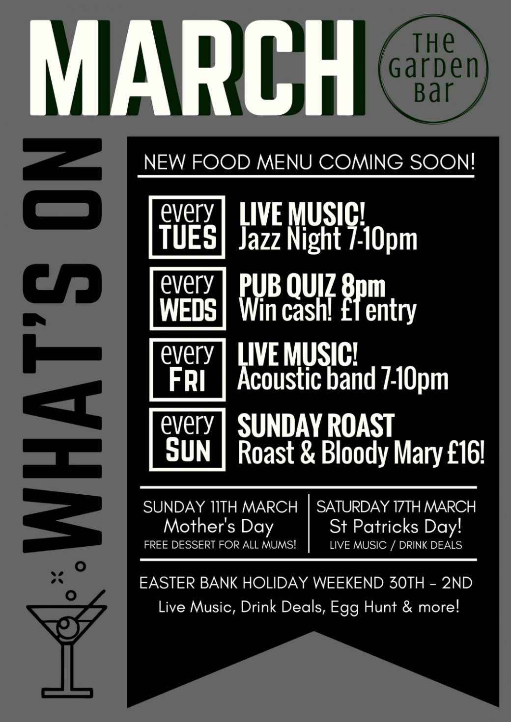 March What's On