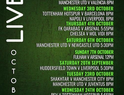 Live Sport – October